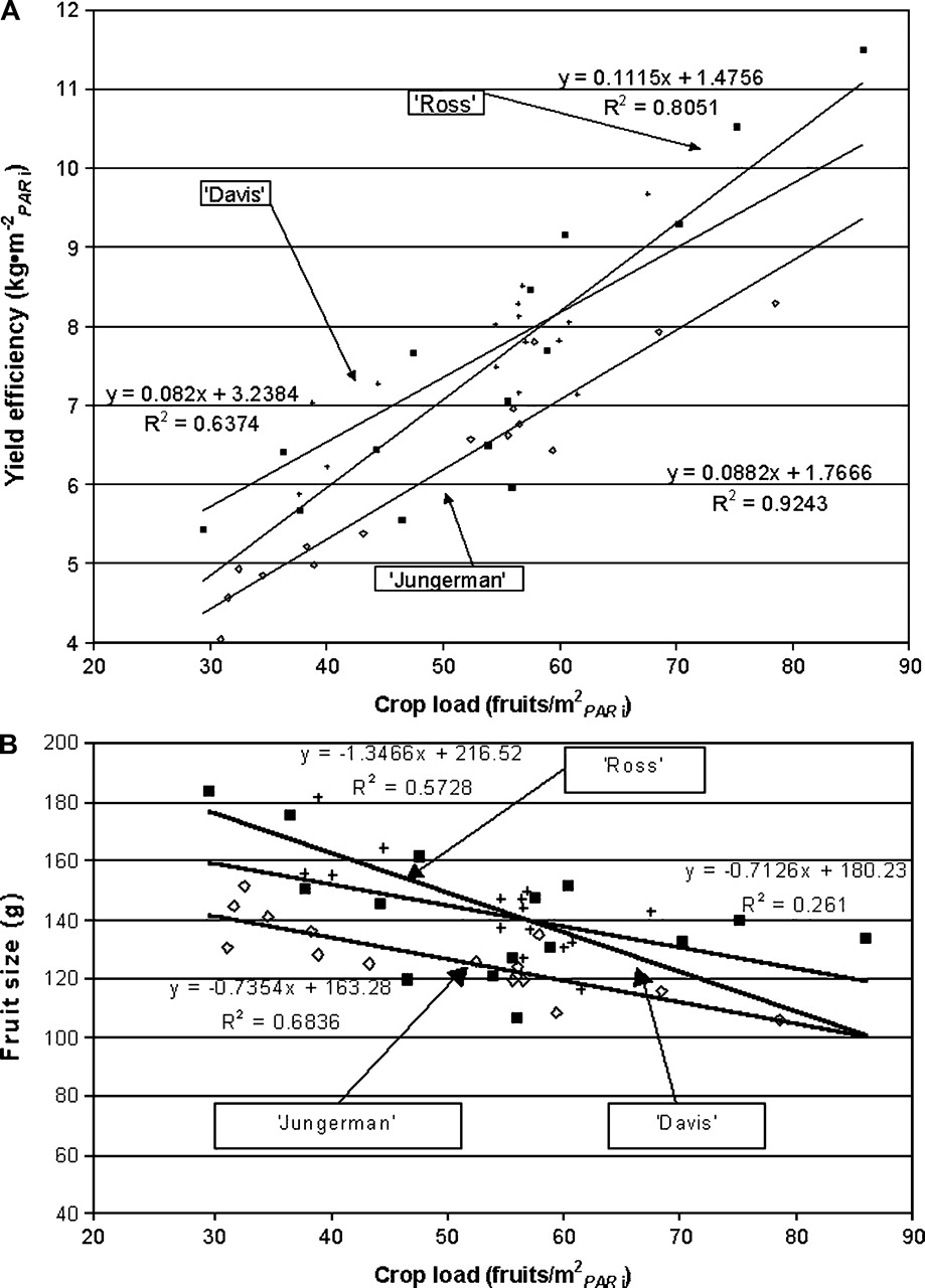 Predicted Crop Value For Nectarines And Cling Peaches Of Different