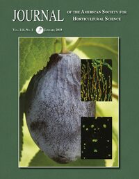 Cover Journal of the American Society for Horticultural Science