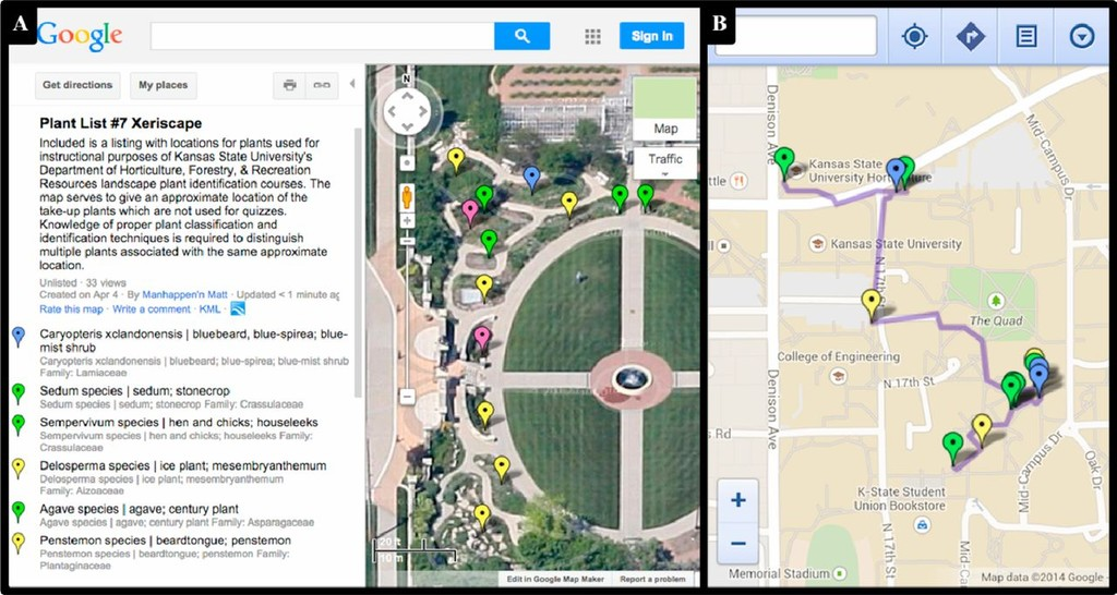 Using Google Maps Web-application to Create Virtual Plant Maps for ...